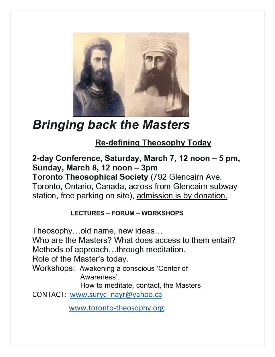 Bringing back the masters flyer